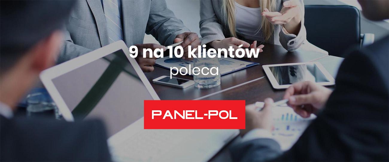 9 na 10 klientów poleca Panel-Pol